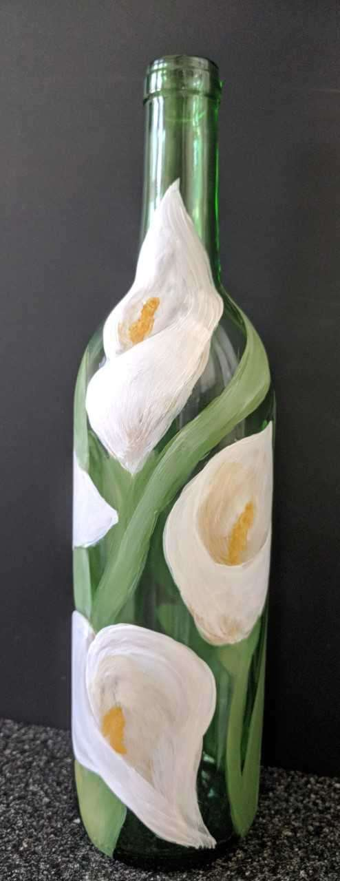 Calla Lily Wine Bottle