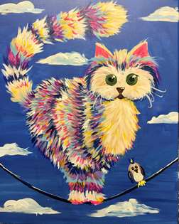 Cat on a wire