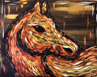 Chestnut Abstract Horse