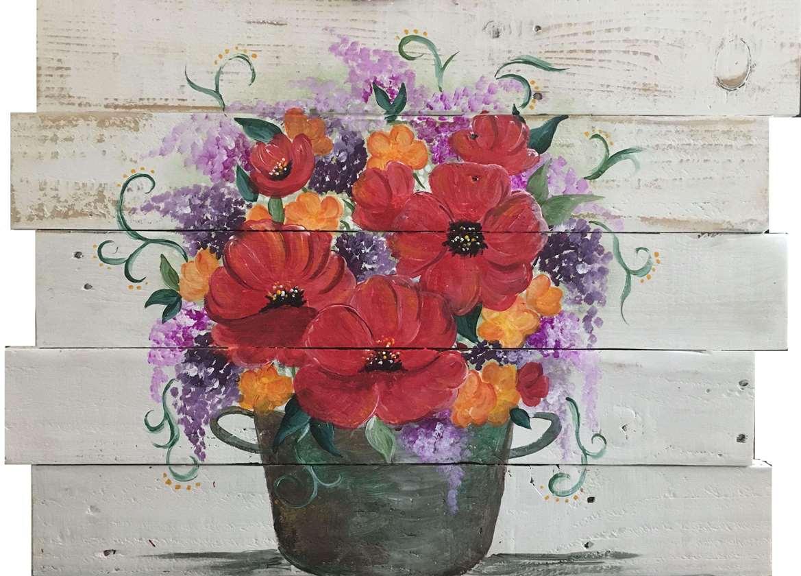 Chic Bouquet Wood Pallet