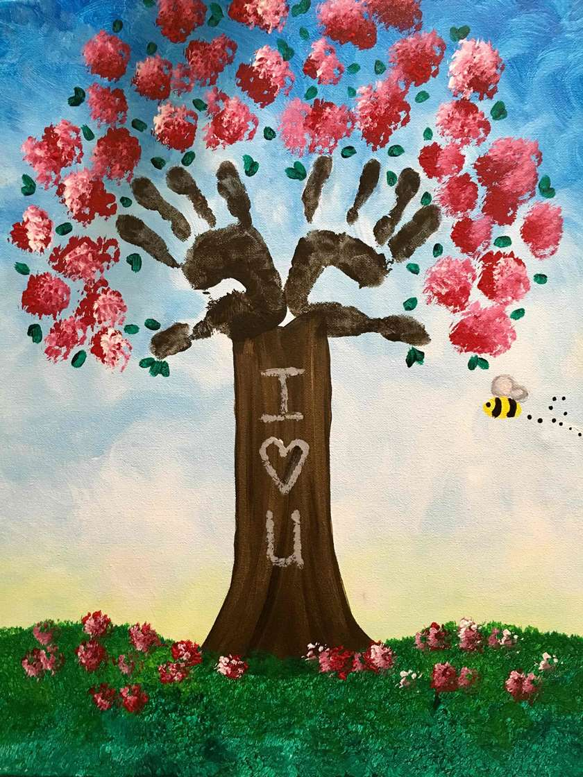 Childs Handprint Keepsake