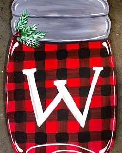 Christmas Mason Jar Door Hanger