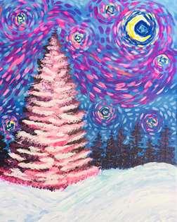 Christmas Starry Night in Blush