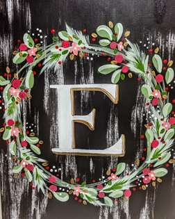 Christmas Wreath Monogram