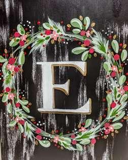 Christmas Wreath Monogram