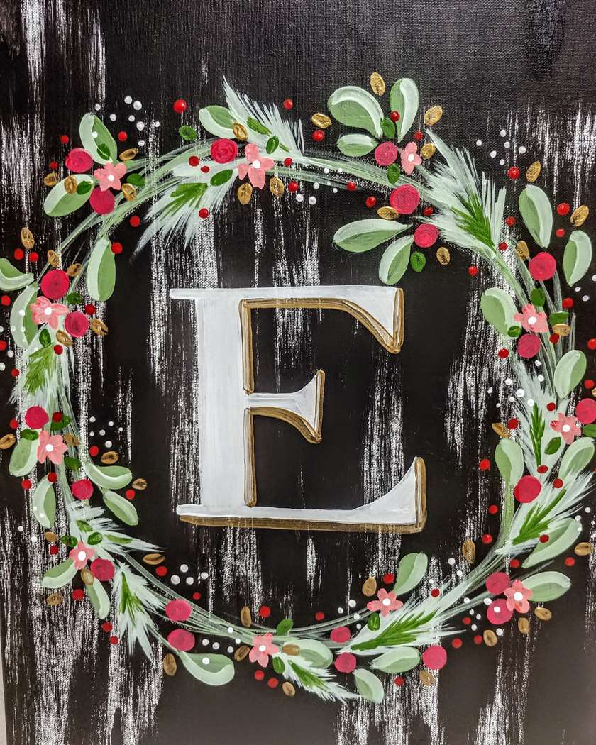 Christmas Wreath Monogram - In Studio Event - Limited Seating Available