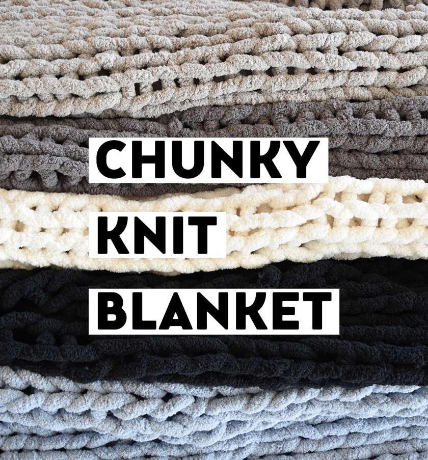 Handmade cozy chunky knit blanket!