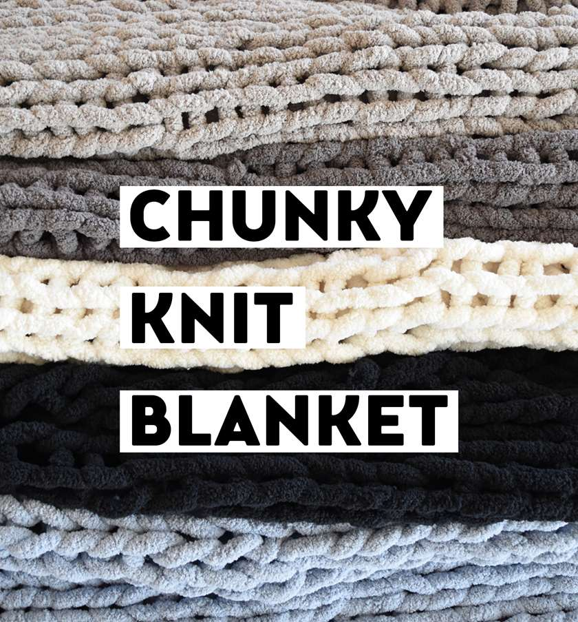 Chunky Knit Blanket - In Studio - Limited Seating