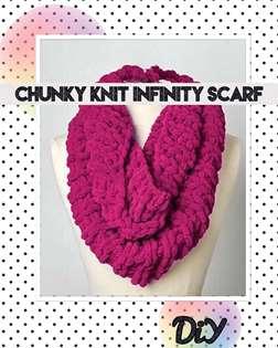 Chunky Knit Infinity Scarf: DiY