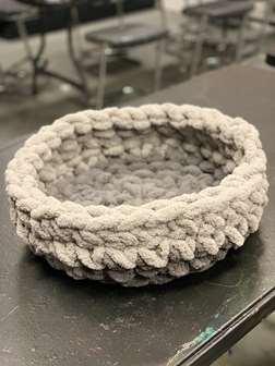 Chunky Knit Pet Bed/ Knit Basket