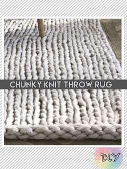 Chunky Throw Rug: DiY