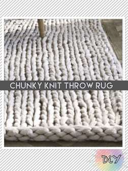 Chunky Throw Rug: DiY