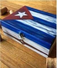 Cuban Flag or Chicago Flag Cigar Box