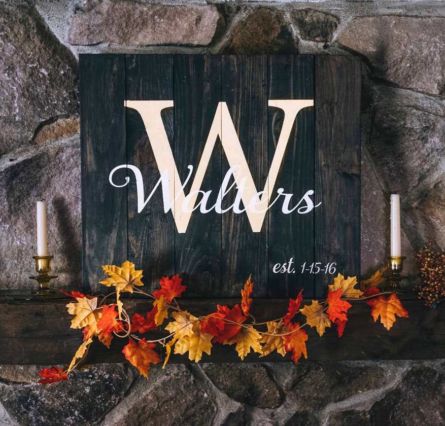 Classic Monogram Wood Board