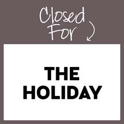 CLOSED -- Happy Holidays!