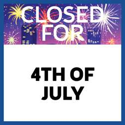 Closed for 4th of July
