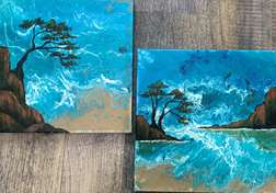 Coastal Craze Flowable Art