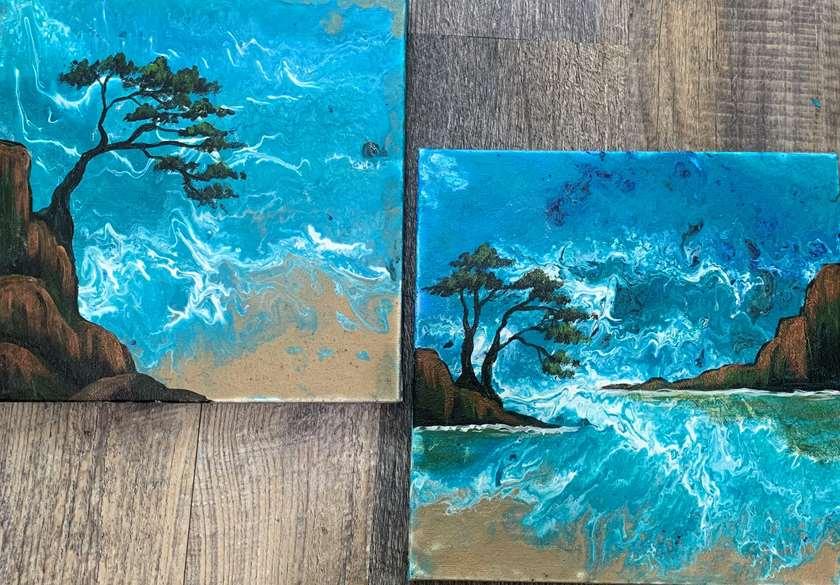 Coastal Craze Flowable Art
