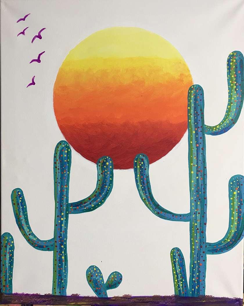 Color Block Cacti