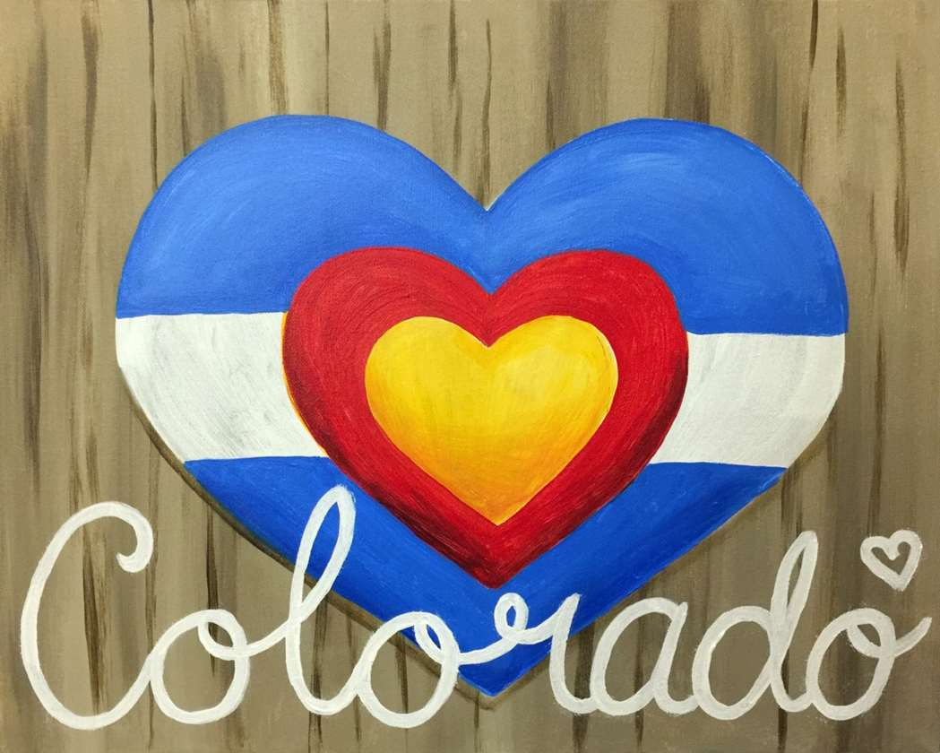 Colorado Is Where the Heart Is- Single Canvas