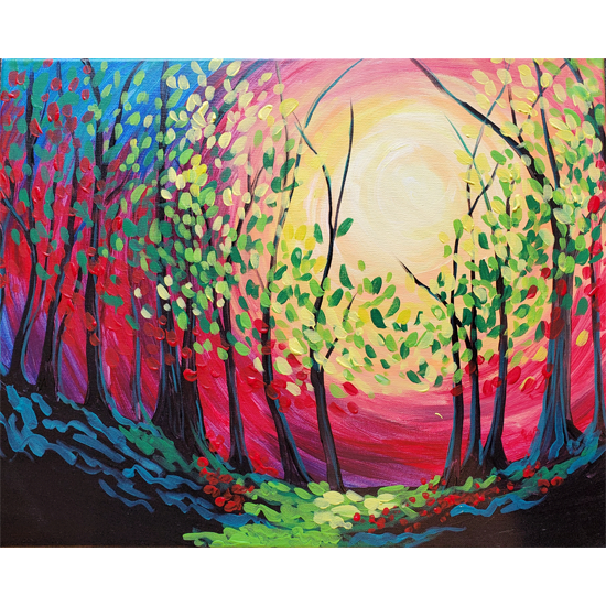 In Studio Event - Peace at Sunset - Wood Pallet