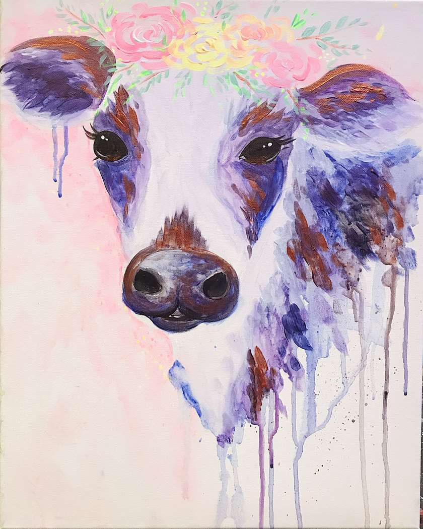 IN-STUDIO EVENT- COLORFUL COW
