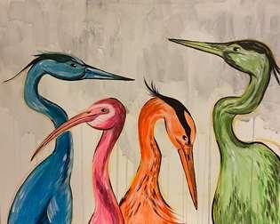 Colorful Cranes