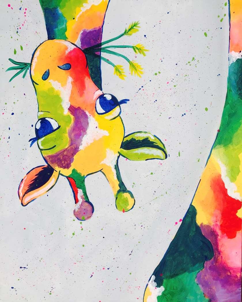 Giraffing Me Crazy - 16x20