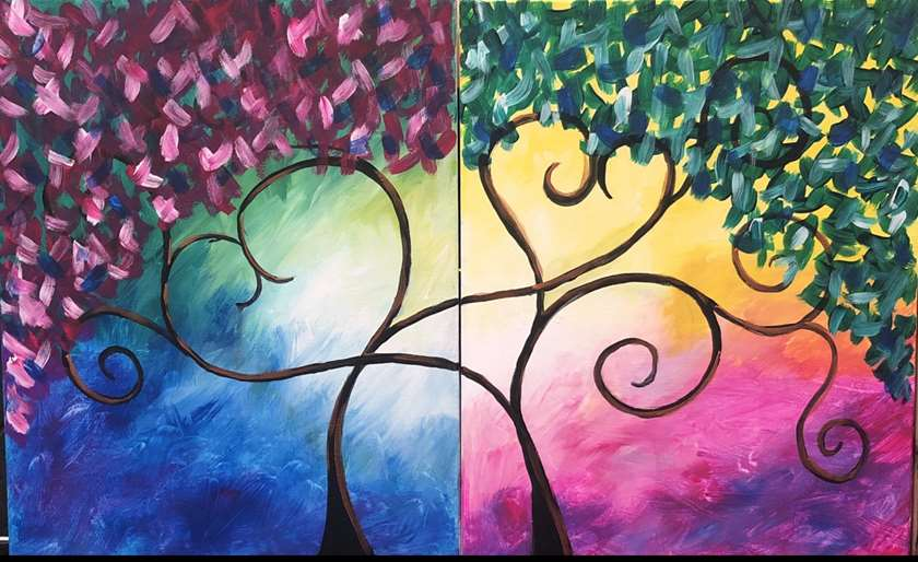 Date Night Event - Can be done on a single canvas!