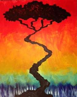 Colorful Safari Sunset