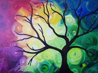 Colorful Swirly Sky