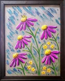Coneflower Meadow- Screen Art