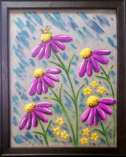 Coneflower Meadow- Screen Art