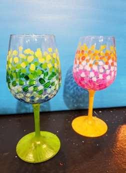 Confetti Wine Glasses!
