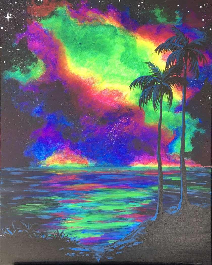 Black Light Night!  Cosmic Island