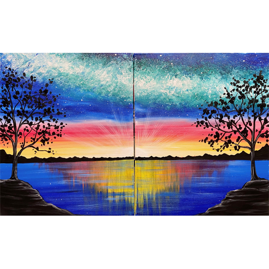 Date Night!  Split between 2 canvases with your partner or paint on one
