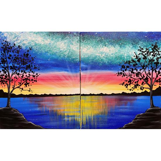 Paint it Forward!! Cosmic Nightfall Date Night