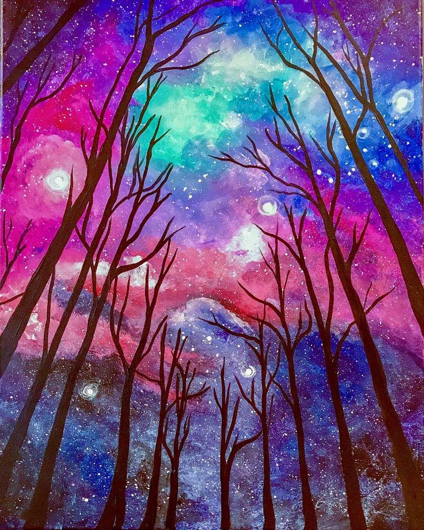 Spooky GLOW NITE!!  Blacklight Painting!!!