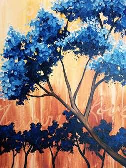 Cottonwoods in Blue