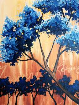 Cottonwoods in Blue