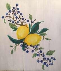 In Studio - Wood Pallet Painting