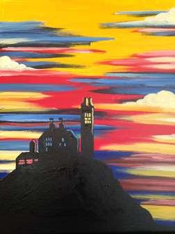 Crimson and Blue Sunset