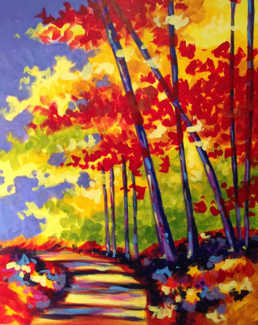 IN STUDIO CLASS: CRISP FALL DAY - $3 GLASSES OF HOUSE WINE SPECIAL