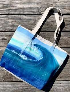 Crystal Blue Wave Tote Bag