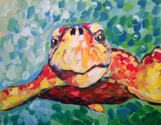 Curious Loggerhead Sea Turtle