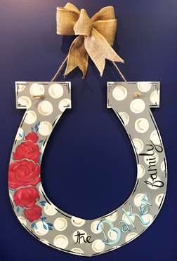 Custom Door Hanger - Horseshoe