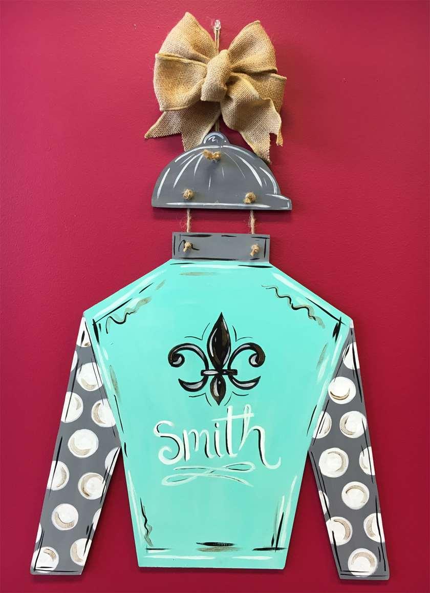 Custom Door Hanger - Jockey Silk