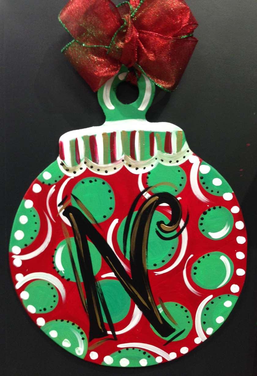 Custom Door Hanger  Ornament  Sat Dec 02 12PM at Pinots