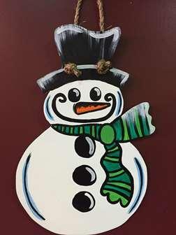 Custom Door Hanger - Snowman