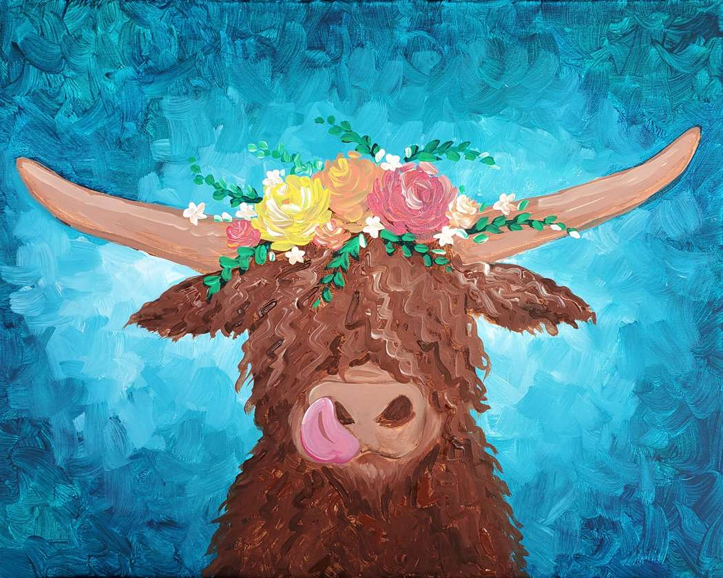 Cute Shaggy Cow